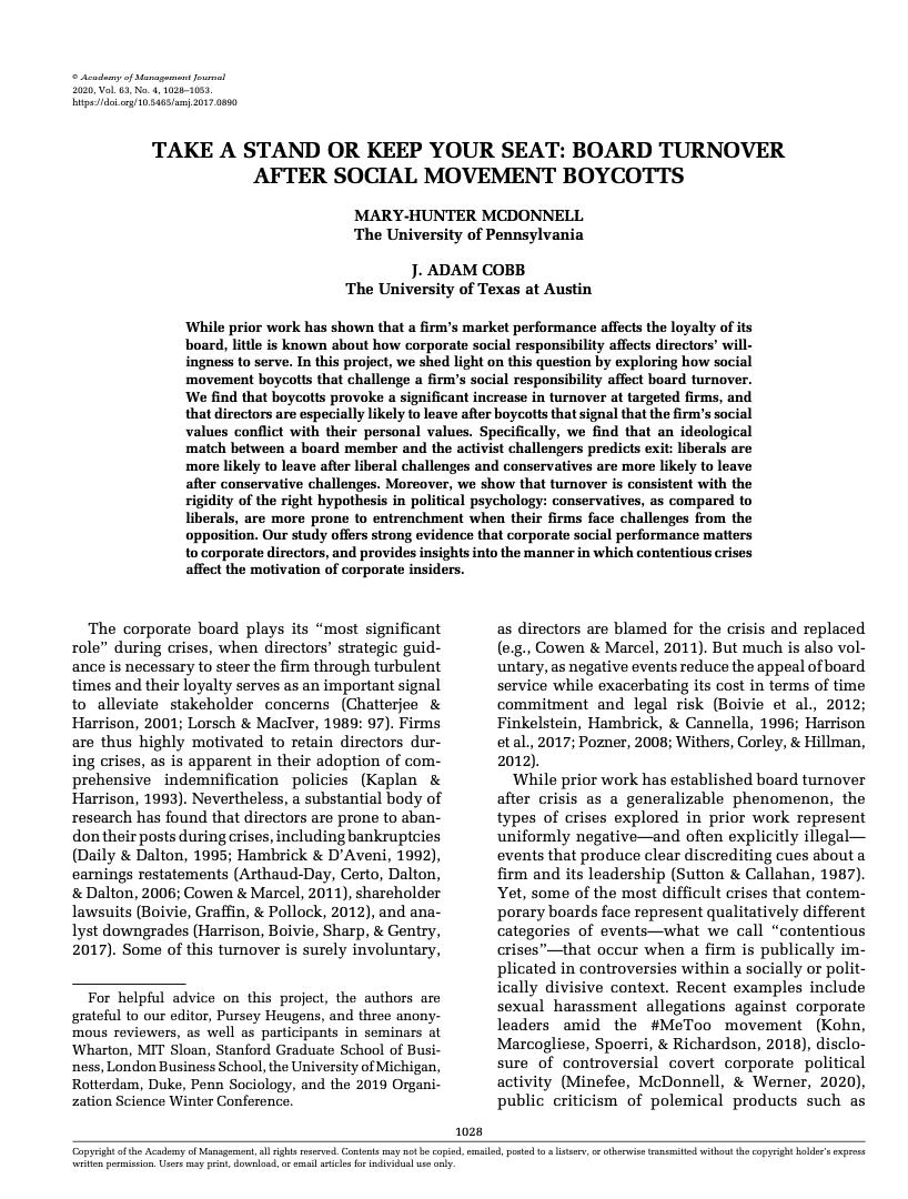 Academy Management Journal