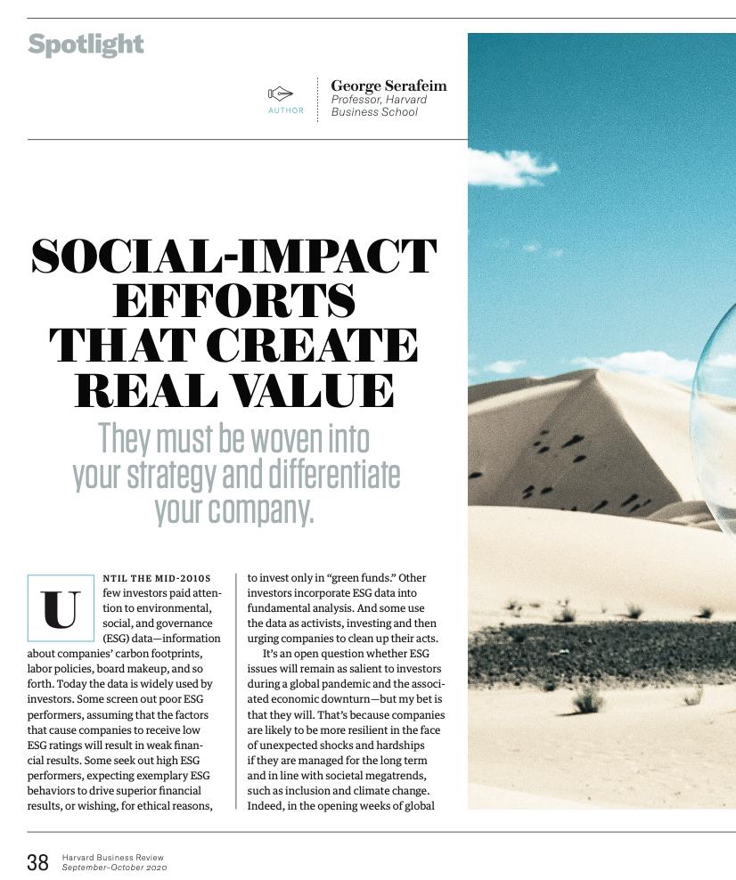Harvard Business Review article screenshot