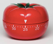 Tomato timer for pomodoro technique