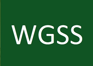 white Letters on green background WGSS