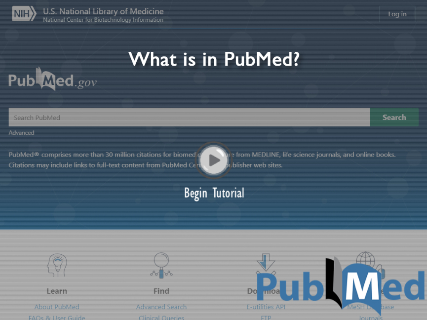 What is in PubMed?