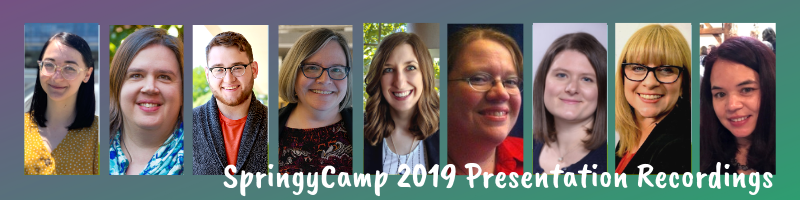 SpringyCamp Presenter Banner