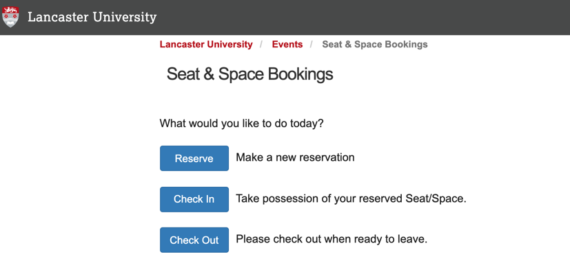 Lancaster University LibCal