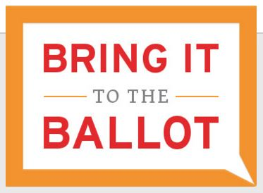 """Logo for WI Accountability Board: """"Bring it to the Ballot"""""""