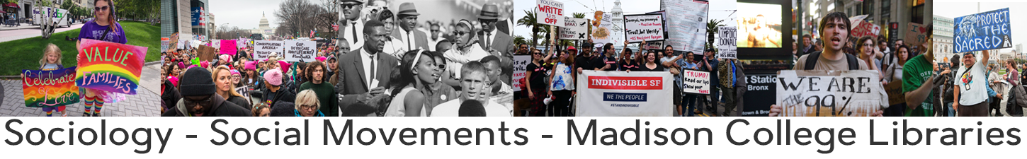 Image: Banner for social movements research guide