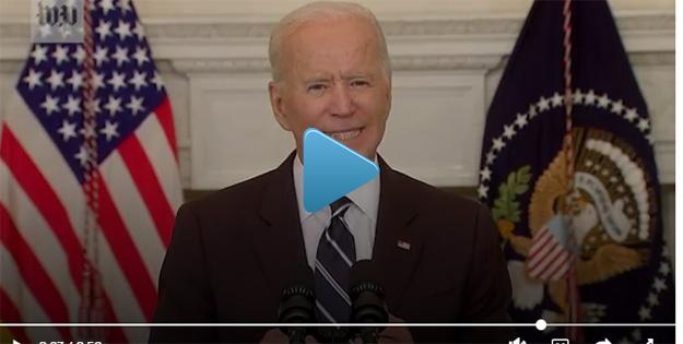 Image: Biden addressing nation about COVID mandates
