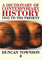 Image: Cover art for dictionary of contemporary History