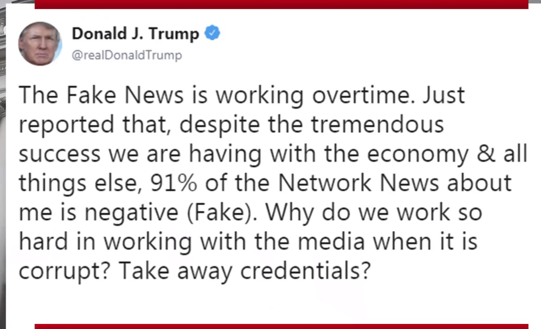 Image: Fake News tweet by Donald Trump