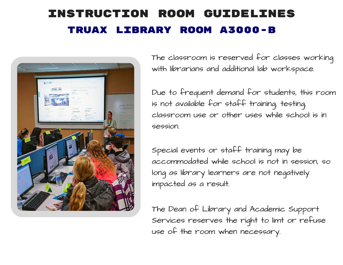 Instruction room guidelines