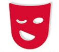 Image: Icon of comedy mask