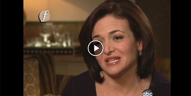 Image: Video screenshot of Sheryl Sandberg
