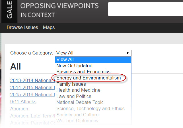 Image: Opposing Viewpoints Browse issues index