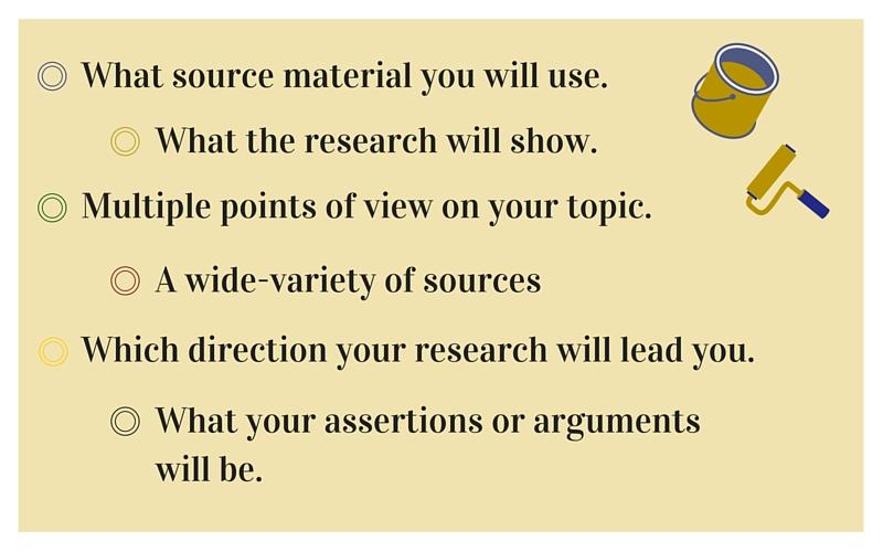 Image: Showing ways to keep an open mind in research process