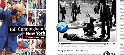 Image: Screenshot from tutorial of a photographer and a famous photograph at Kent State killings (linked)
