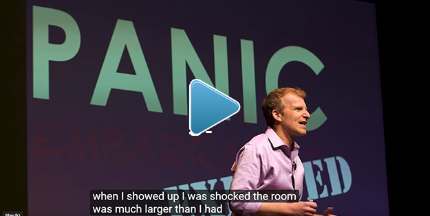 Image: Links to Youtube video on anxiety over public speaking