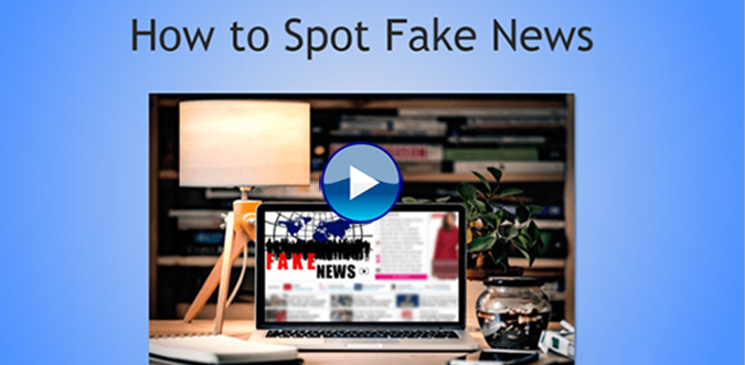 Image: Links to How to Spot Fake News HOWLER tutorial