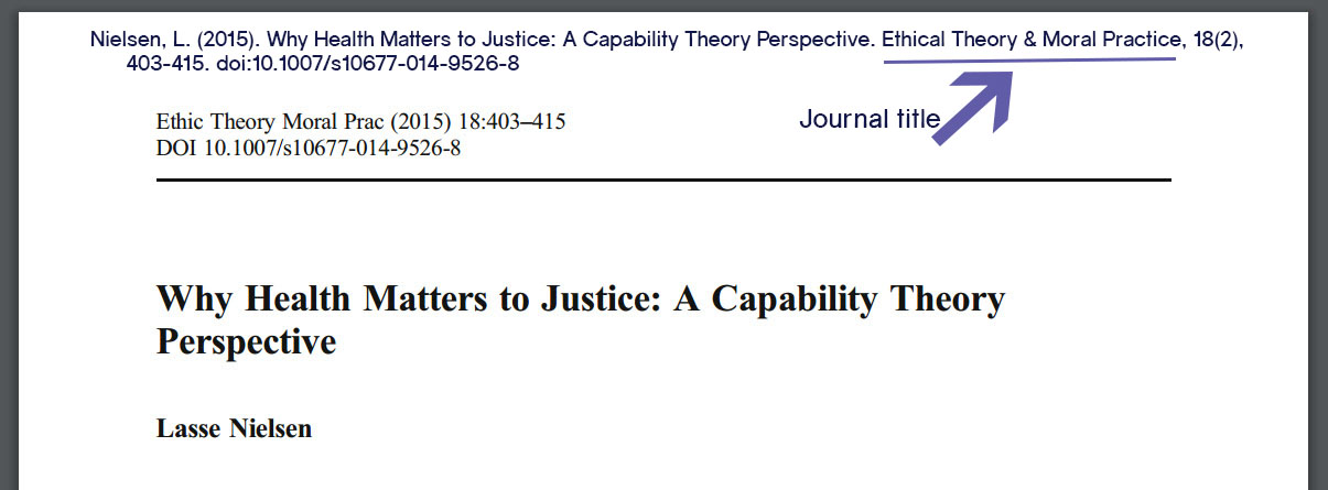 Journal article header with Ethical Theory & Moral Practice underlined