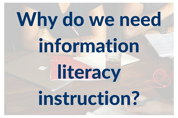 Question on image: Why do we need information literacy instruction?