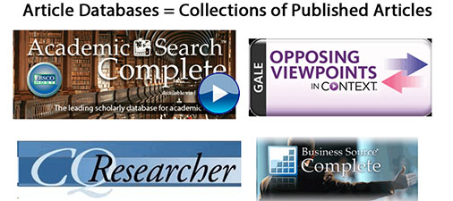 Image: Screenshot of article database logos from tutorial (linked)