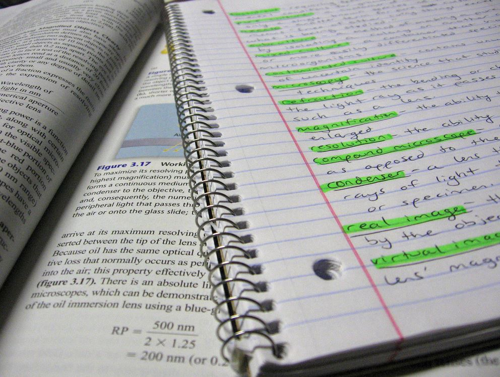 Textbook and notes