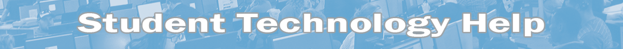 student tech help banner image.