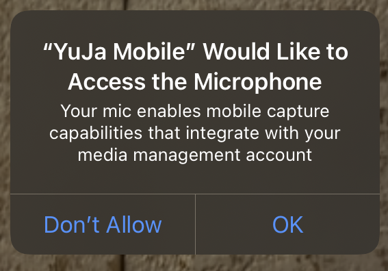 Access to microphone prompt