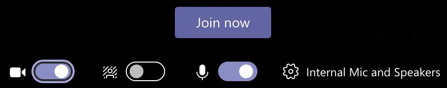 Microsoft Teams meeting settings