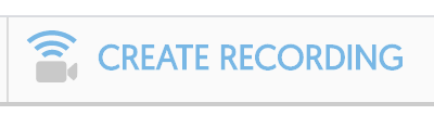 image of the create recording button