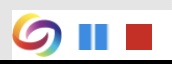 image of the recording toolbar with pause and stop functions