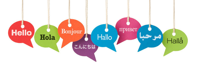 hello many languages banner