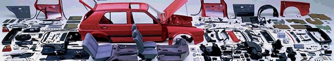 disassembled car