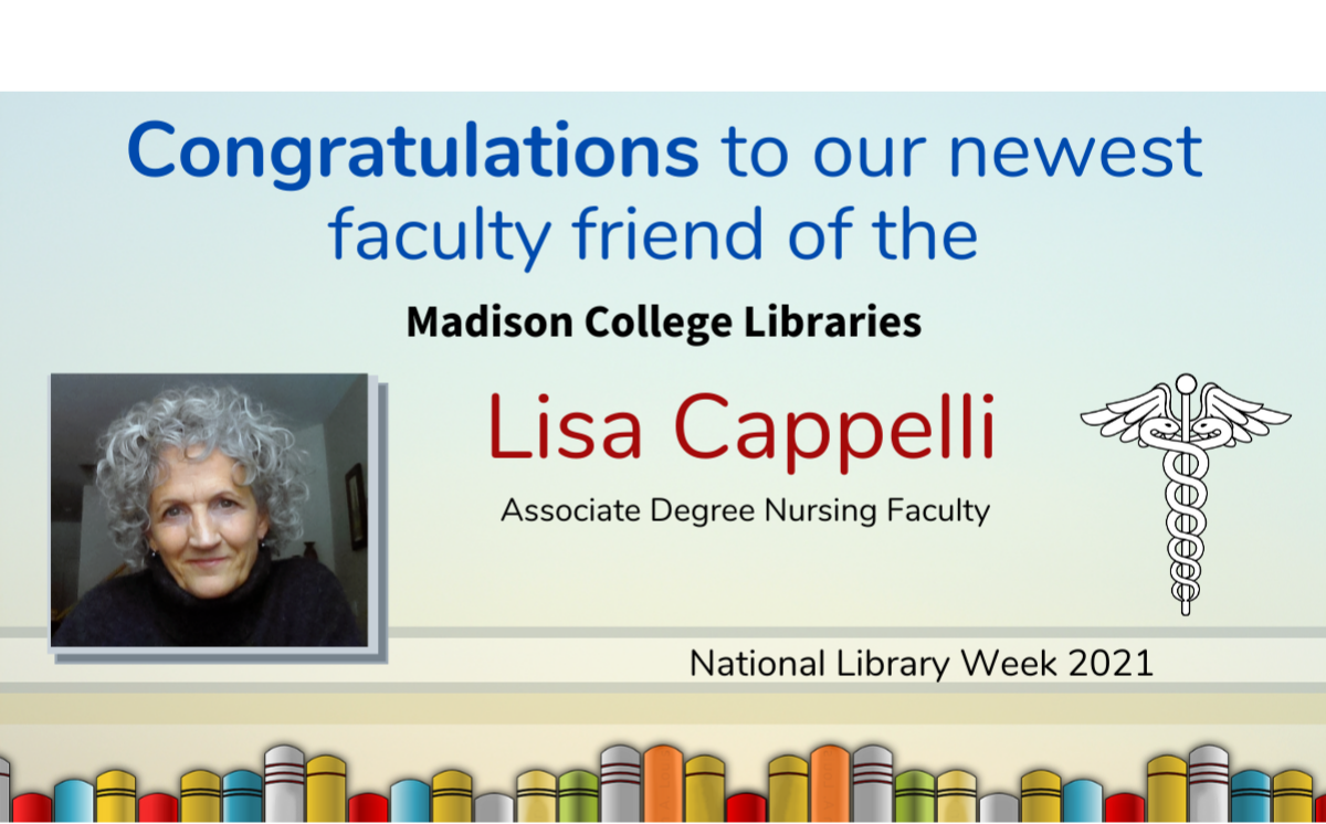Faculty Friend of the libraries Lisa Cappelli