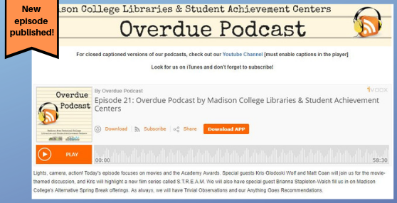 New Episode of Overdue Podcast published