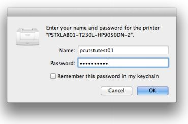 screenshot of username and password authentication