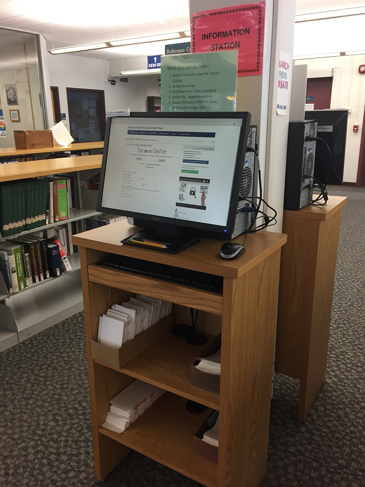 Quick access to the Library Catalog, the Portal, a Campus map, and the bookstore site