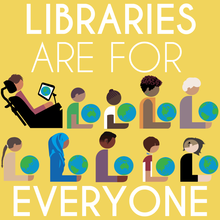 Libraries are for everyone icon