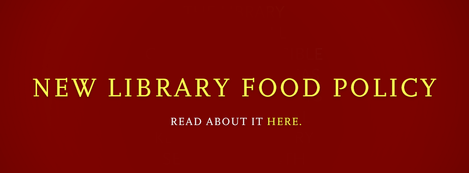 New Food Policy banner and link to policy
