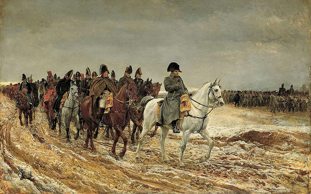 painting of Napoleon after the battle of Laon