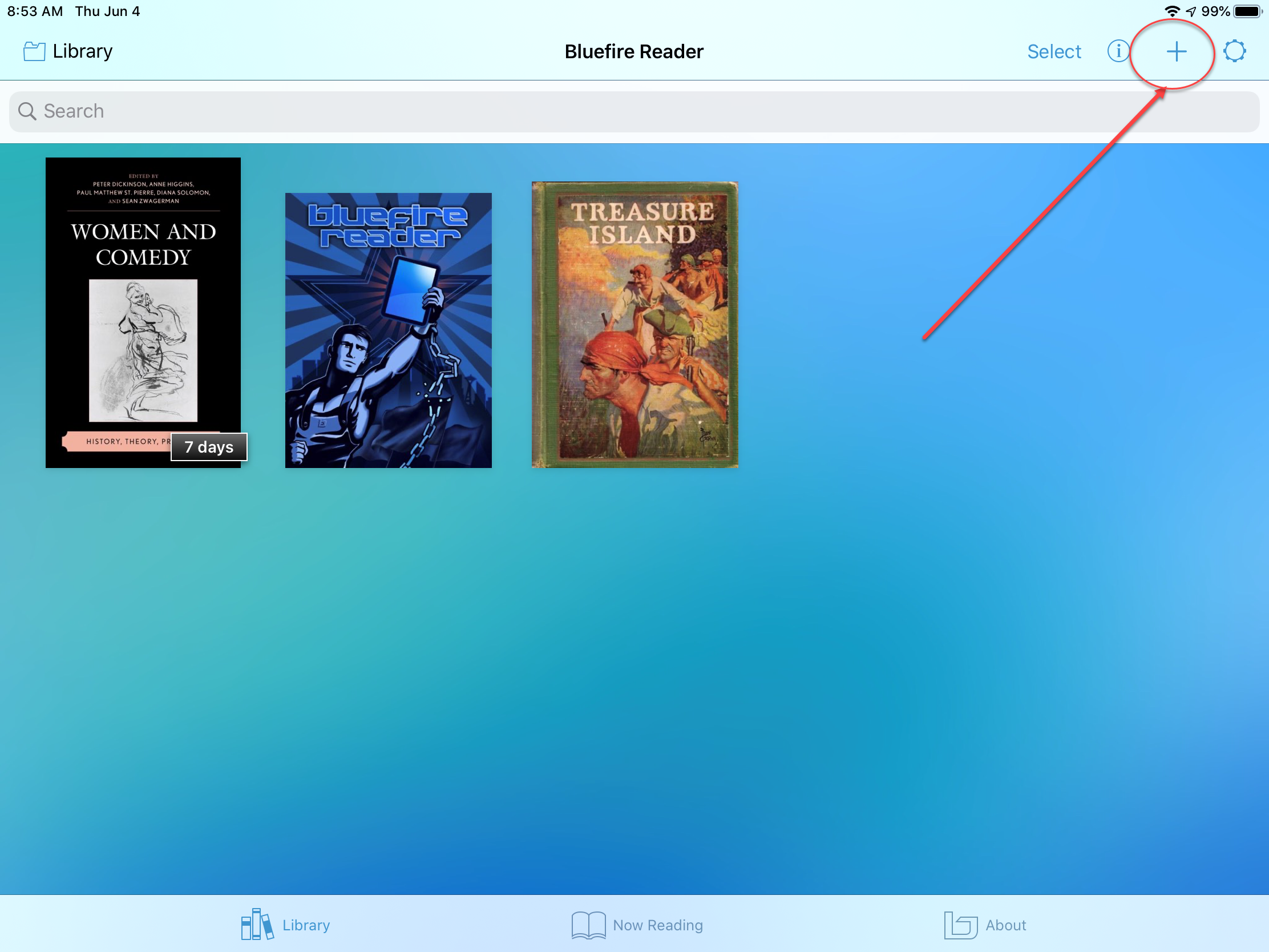 add file to bluefire reader
