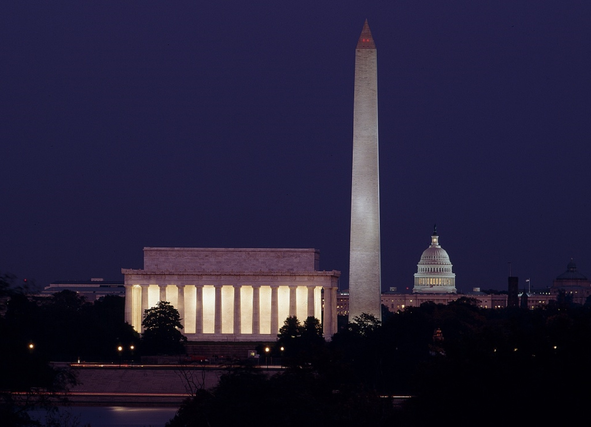 U.S. Capitol Landmarks At Dusk photo