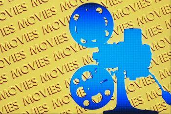 Movie camera graphic