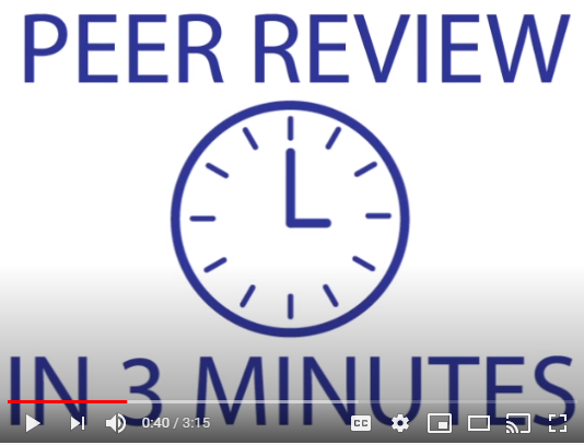 Video Title Screen: Peer Review in 3 Minutes