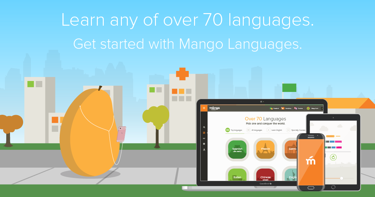 Learn any of over 70 languages with Mango Languges