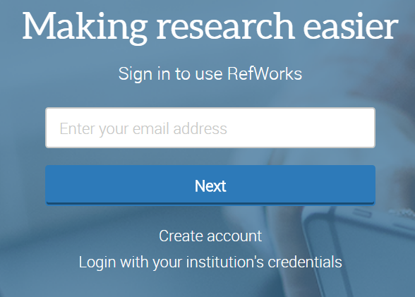 "On the home page, click the link that says ""Login with your institution's credentials."