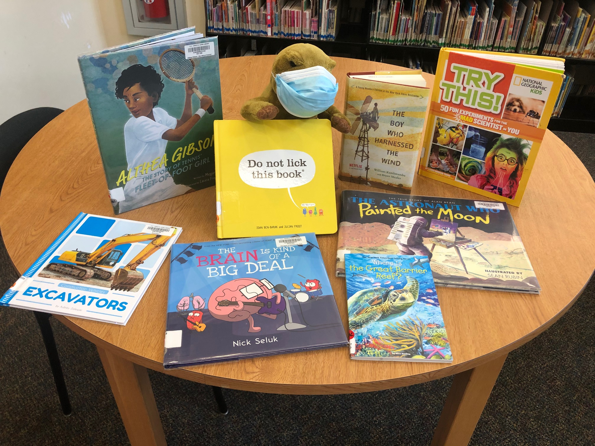 Dino suggests nonfiction books for check out