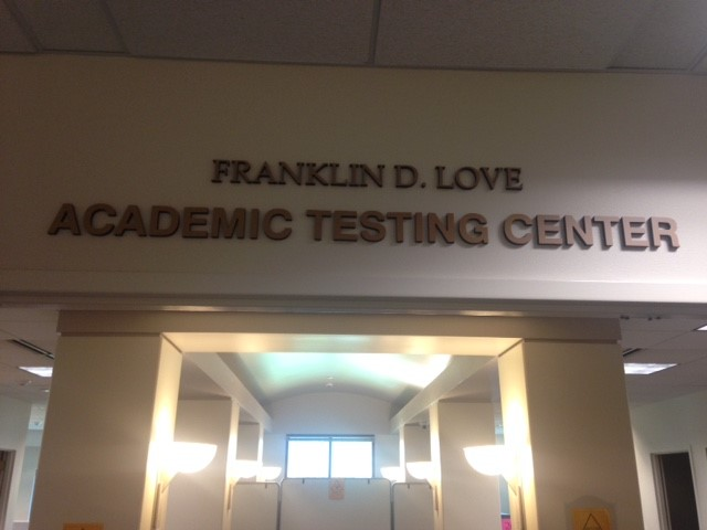 Front view of the Academic Testing Center