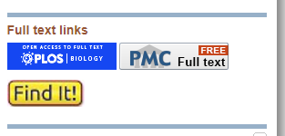 screenshot of full text links in pubmed