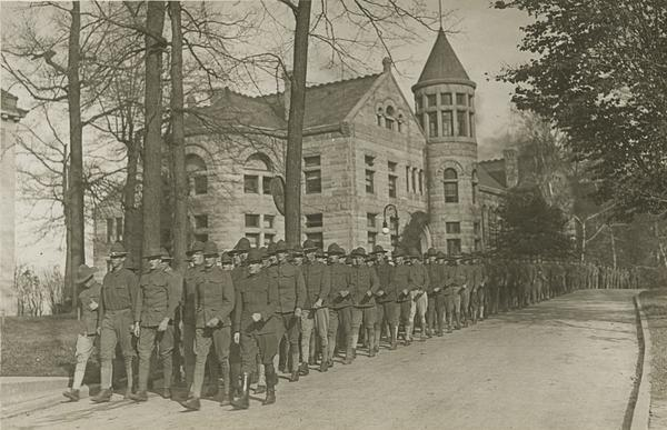 WWI Amistice Celebration Parade, November 11, 1918