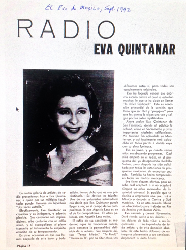 Eva Quintanar article