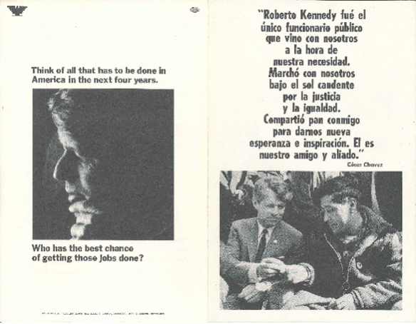 Robert Kennedy campaign literature